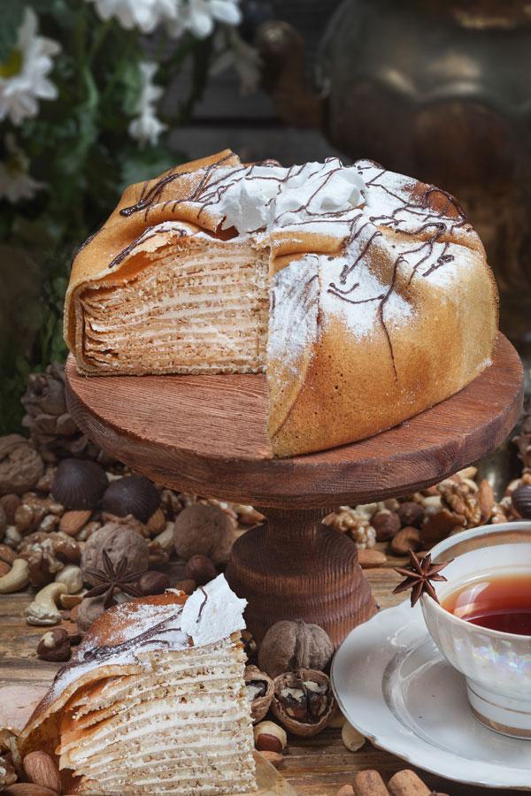 торт Царский блинный