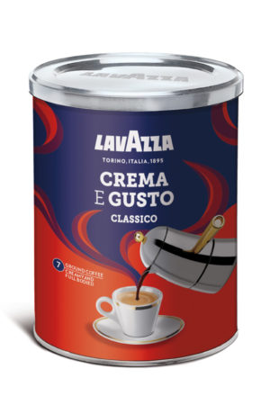 кофе молотый crema gusto в банке