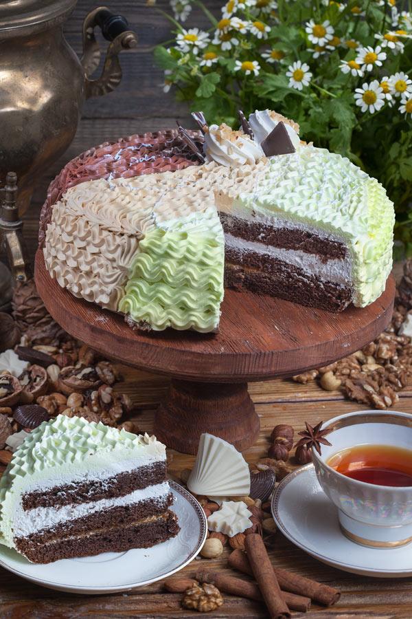 торт Каприз со сгущенкой 1,5