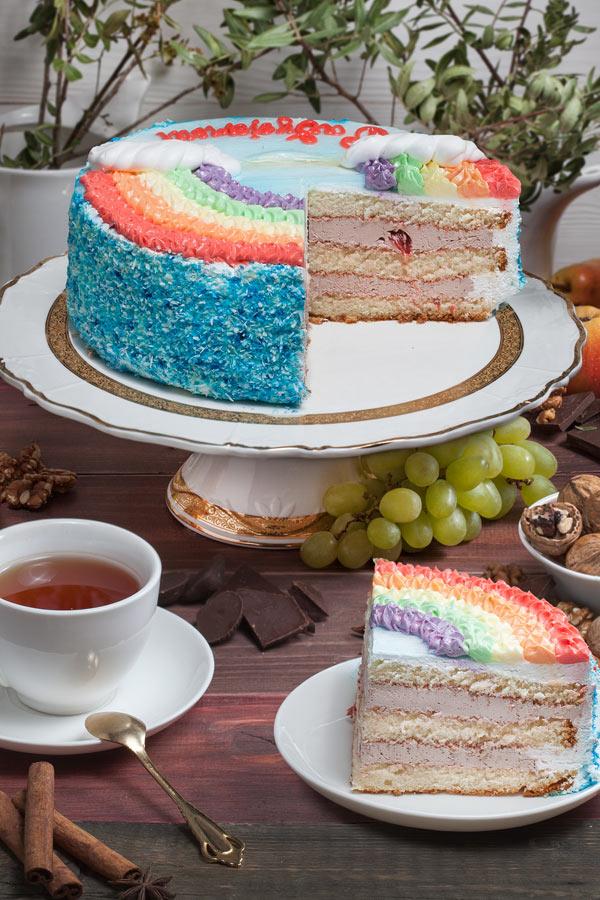 торт Радужный